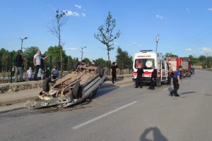 Kestel'de, Duvara Çarpıp Takla Attı: 1 Yaralı