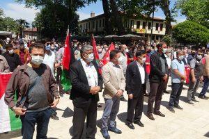 Şehit Olan Filistinliler İçin Gıyabi Cenaze Namazı Kılındı