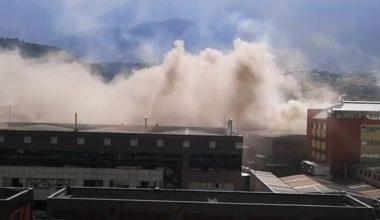 Kestel'deki Fabrikada Çıkan Baca Yangını Korkuttu