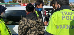 Bursa'da çalıntı araçla şehir turuna polis 'dur' dedi