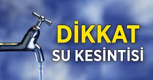 Kestel ve İnegöl'de su kesintisi